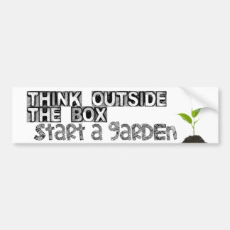 Start a Garden! Bumper Sticker
