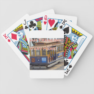 Start Here! San Francisco Cable Cars Trolley Cars Bicycle Playing Cards