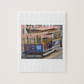 Start Here! San Francisco Cable Cars Trolley Cars Jigsaw Puzzle