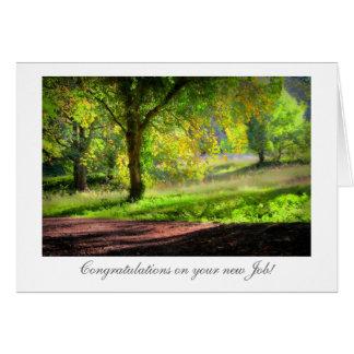 Start of Autumn / Fall - Congrats on New Job Card