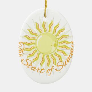 Start Of Summer Ceramic Oval Decoration