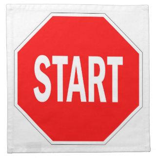 start road traffic sign symbol stop napkin