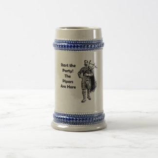 Start the Party! The Pipers Are Here Beer Stein