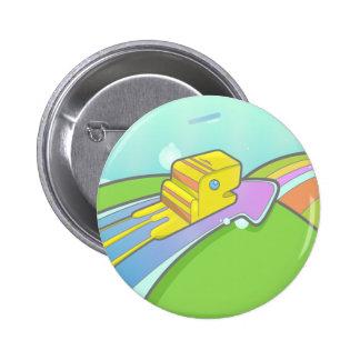 Start the trip 6 cm round badge