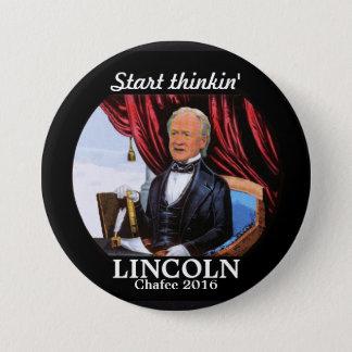 Start thinkin' Lincoln 7.5 Cm Round Badge
