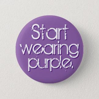 Start Wearing Purple 6 Cm Round Badge