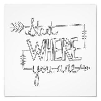 Start Where You Are Photo Print