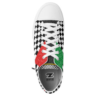 Start Your Engines Racing Happy Feet Printed Shoes