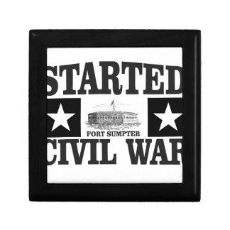 started the civil war fs small square gift box