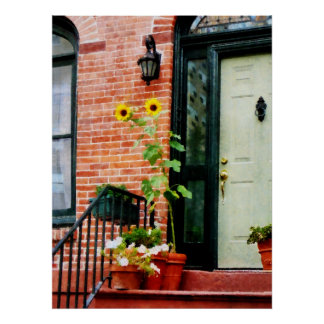 STARTING UNDER $20 - Sunflowers on Stoop Poster