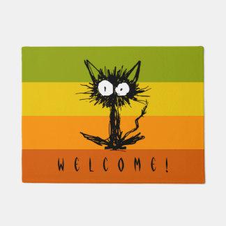 Startle Black Cat Doormat