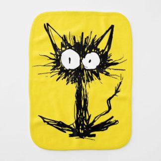 Startle Cat Yellow green Burp Cloth