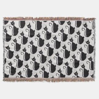 Startled Cat Throw Blanket