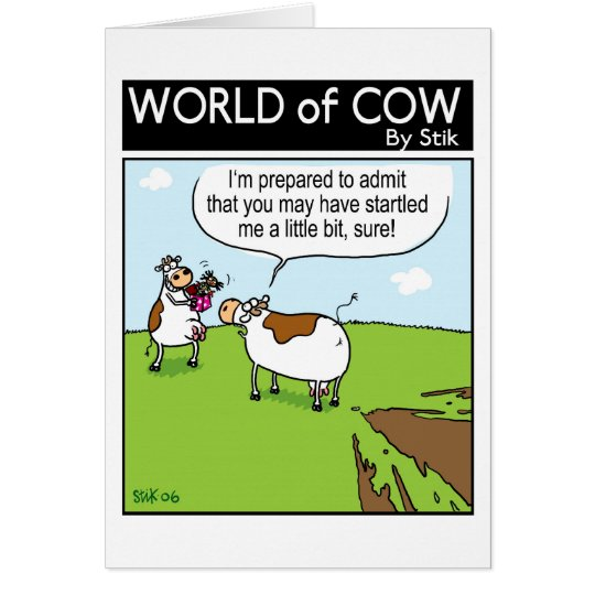 Startled Cow Card