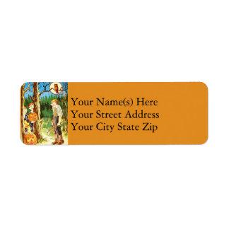 Startling Jack O Lanterns Halloween Return Address Label