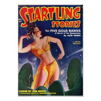 Startling Stories -- The Five Gold Bands Poster