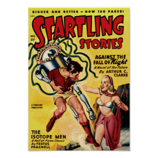 Startling Stories -- The Isotope Men Poster