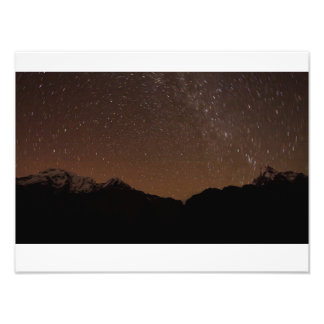 startrails at machapuchare mountain photo print