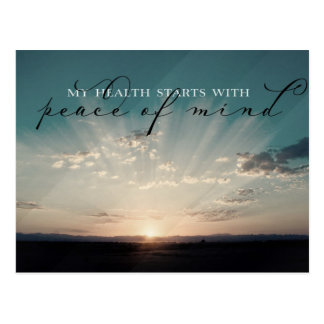 Starts With Peace Of Mind Postcard