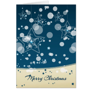 Stary Christmas Night Greeting Card