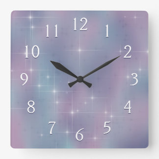 Stary Mauve and Teal Wallclock