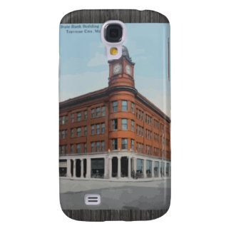 State Bank Building Traverse City, Mich, Vintage Galaxy S4 Cases