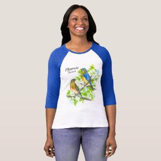 State Bird of Missouri Bluebirds Hawthorn T-Shirt
