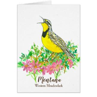 State Bird of Montana Yellow Western Meadowlark Card