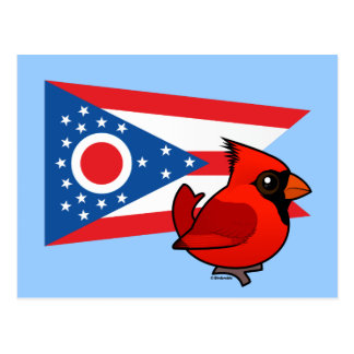 State Birdorable of Ohio Postcard