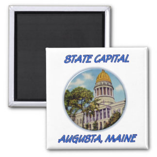 State Capital Augusta Maine Magnet