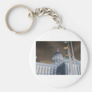 STATE CAPITAL BASIC ROUND BUTTON KEY RING