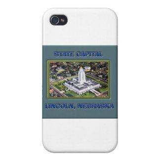 State Capital Lincoln Nebraska Cover For iPhone 4