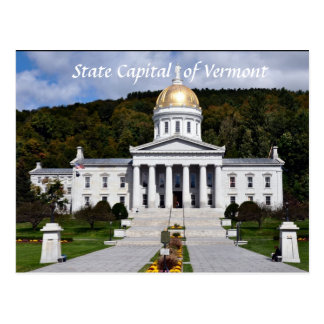 State Capital of Vermont- Postcard