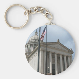 State Capital Photo Basic Round Button Key Ring