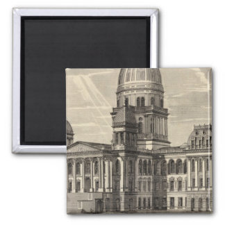 State Capitol building, Springfield, Ill Fridge Magnet