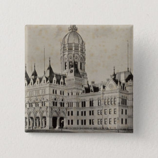 State Capitol, Hartford 15 Cm Square Badge