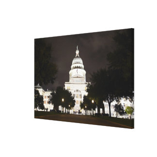 State Capitol of Austin, Texas at Night Canvas Print