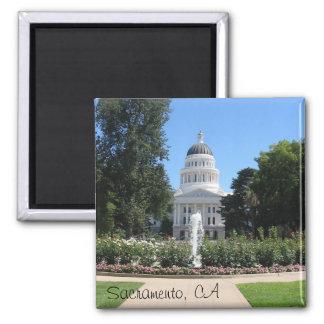 State Capitol, Sacramento, CA Square Magnet