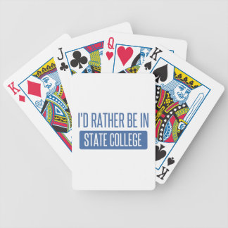 State College Bicycle Playing Cards