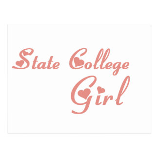 State College Girl tee shirts Postcard