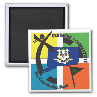 STATE CONNECTICUT NICKNAME GEOCACHER MAGNET