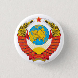 State Emblem of the Soviet Union 3 Cm Round Badge