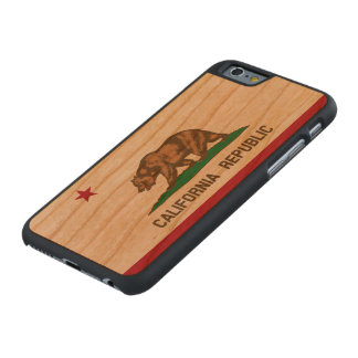 State Flag of California Republic Carved Cherry iPhone 6 Case
