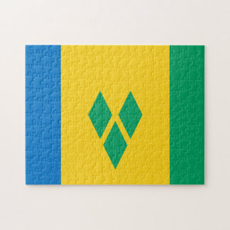 State Flag of Saint Vincent and The Grenadines. Jigsaw Puzzle