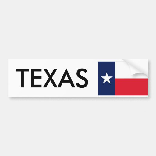 state flag texas bumper stickers
