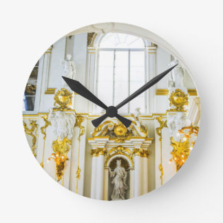 State Hermitage Museum St. Petersburg Russia Round Clock