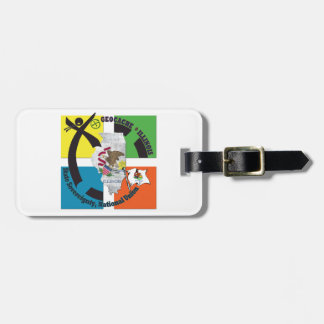 STATE ILLINOIS STATE MOTTO GEOCACHER LUGGAGE TAG