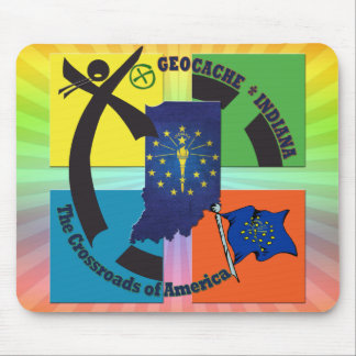 STATE INDIANA MOTTO GEOCACHER MOUSE PAD