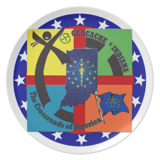 STATE INDIANA MOTTO GEOCACHER PLATE