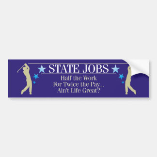 State Jobs Bumper Sticker
